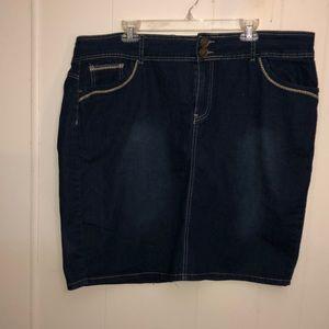 Dresses & Skirts - Perfect summer Classic dark blue jean mini skirt
